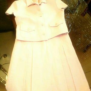Valentino 2 pcs set pink mini skirt and top pink